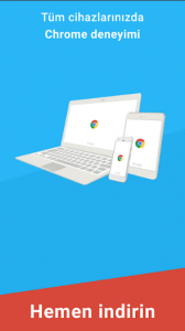 Google Chrome mobil internet tarayıcı